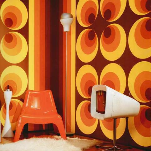 back to the ´60´s en ´70´s met retrobehangen - behang: ideëen, Deco ideeën
