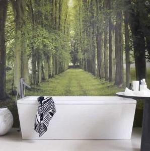 behang je badkamer! - behang: ideëen, tips en de nieuwste, Badkamer
