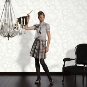 Wit behang voor een pure, lichte muur