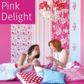 Roze behang voor een (meisjes)slaapkamer