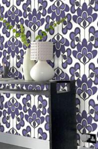 passie in de kamer met paars behang - behang: ideëen, tips en de, Deco ideeën