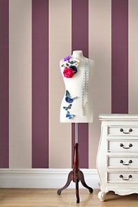 Passie in de kamer met paars behang behang ide en tips en de nieuwste collecties behangwinkel - De kleurenkamer ...