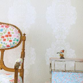 Romantisch behang voor meisjes slaapkamers