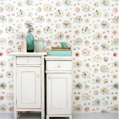 Traditioneel bloemen behang in nieuwe stijl - Behang: ideëen, tips ...