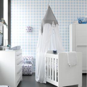 Neutraal babykamer behang