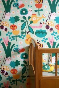 bonte prints voor de kinderkamer van bora behang ide235en