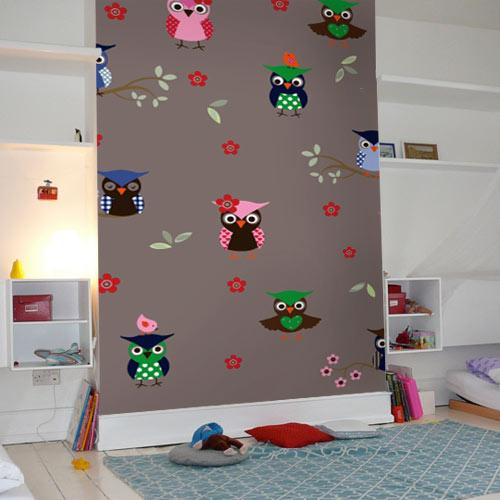 accessoires bij uiltjes behang - behang: ideëen, tips en de, Deco ideeën
