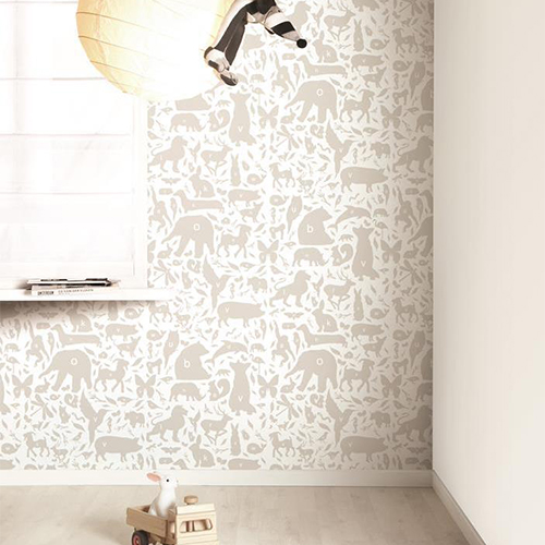 Behang babykamer taupe 100 images babykamer taupe roze cartoonbox info grote taupe - Muurschildering taupe ...