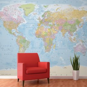 De wereld op je muur