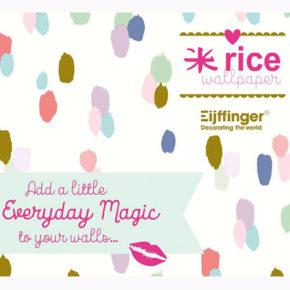Unieke samenwerking Eijffinger en Rice wallpaper